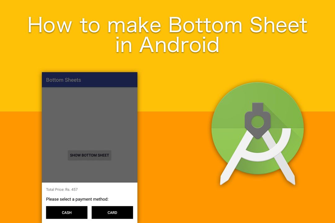 How to make Bottom Sheet in Android - TheTechnoCafe