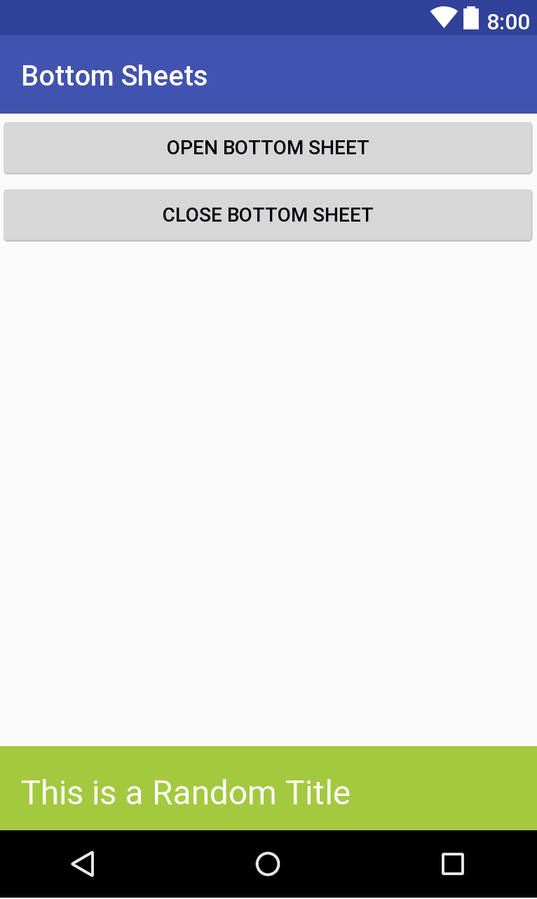bottom sheet